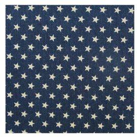 Ткань для рукоделия 50*50см джинса набивная, HY003001 Россия.