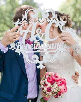 Композиция Семейный герб - подарок ручной работы на свадьбу Беларусь.