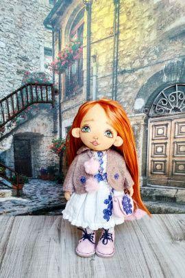 Текстильная кукла Лика в Stranamasterov.by Беларусь.