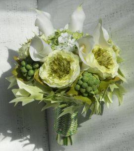 Свадебный букет Оливковая нежность - подарок ручной работы на свадьбу Беларусь.