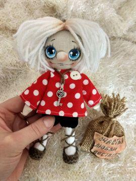 Интерьерная кукла Домовой Кузька-малышок в Stranamasterov.by Беларусь.