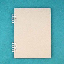 Заготовка для фотоальбома на пружине белой А5, 6 листов, АП001-Б Беларусь.