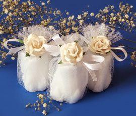 Мыло свадебное Бонбоньерка белая роза - подарок ручной работы на свадьбу Беларусь.