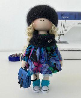 Текстильная кукла Стеша в Stranamasterov.by Беларусь.