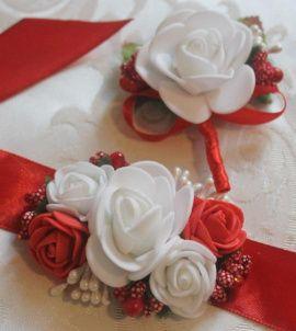 Бутоньерки для свидетелей Бутоньерки свидетелям - подарок ручной работы на свадьбу Беларусь.