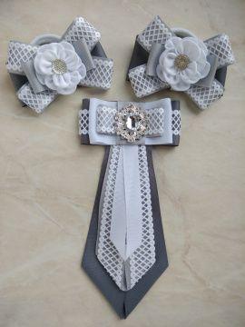 Набор школьницы Резинки и галстук серый с в Stranamasterov.by Беларусь.
