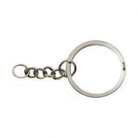 Кольцо для ключей 2*24мм, никель Россия.