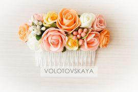 Гребень Персиковые цветы в Stranamasterov.by Беларусь.