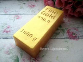 Мыло Слиток золота в Stranamasterov.by Беларусь.