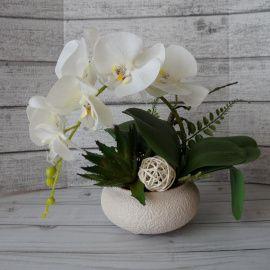 Интерьерная композиция Белая орхидея в Stranamasterov.by Беларусь.