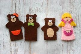 Пальчиковая игрушка Театр Три медведя в Stranamasterov.by Беларусь.
