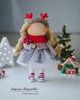 Интерьерная кукла Оленюшка в Stranamasterov.by Беларусь.