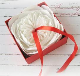 Подушечка для колец Роза - подарок ручной работы на свадьбу Беларусь.