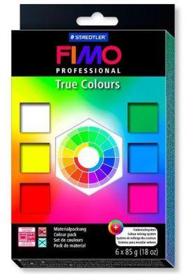 Набор полимерной глины FIMO PROFESSIONAL 6 цветов по 85гр 8003-01 Россия.