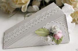 Бонбоньерка Кусочек торта - подарок ручной работы на свадьбу Россия.