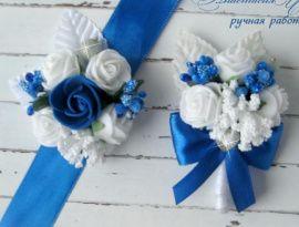 Бутоньерки для свидетелей Роскошь - подарок ручной работы на свадьбу Беларусь.