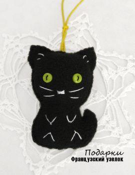 Брелок Черный кот в Stranamasterov.by Беларусь.