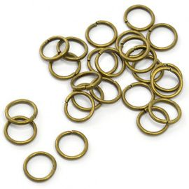 Кольцо соединительное для бус 7мм, упаковка 50шт, TBY.RG1.07.01 бронза Россия.