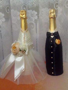 Жених и Невеста Шампань - подарок ручной работы на свадьбу Беларусь.