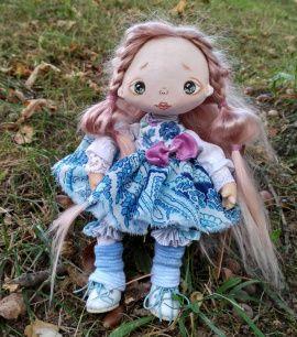 Текстильная кукла Малышка Лизонька в Stranamasterov.by Беларусь.