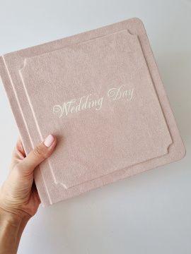 Книга пожеланий Wedding day - подарок ручной работы на свадьбу Беларусь.