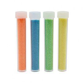 Набор глиттера 4 цвета, 4 тюбика*5, упаковка, 3 оранжевый, голубой, светло-желтый, светло-зеленый , 5гр Россия.