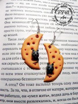 Серьги Мышки на сыре в Stranamasterov.by Беларусь.