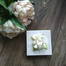 Свадебный комплект Открытка+коробочка - подарок ручной работы на свадьбу Беларусь.