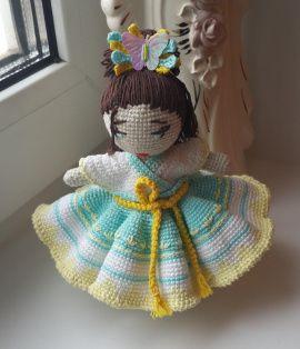 Авторская кукла Королева бабочек в Stranamasterov.by Беларусь.