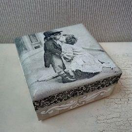 Коробочка для колец Двое - подарок ручной работы на свадьбу Беларусь.