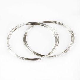 Проволока с памятью для браслета, 1.2мм*0.5мм, 70мм, 2шт*10 витков, серебро, АСТРА Россия.