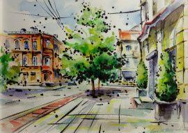 Картина Улица Карла Маркса в Stranamasterov.by Россия.