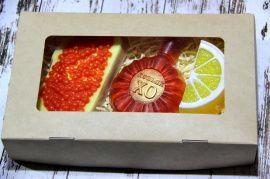 Сувенирное мыло ХО+бутер+лимон в Stranamasterov.by Россия.