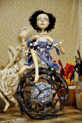 Авторская кукла Меланхолия в Stranamasterov.by Беларусь.