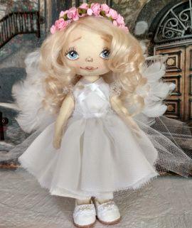 Текстильная кукла Маленький ангел в Stranamasterov.by Беларусь.