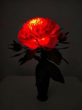 Декоративный светильник Розовый пион в Stranamasterov.by Беларусь.