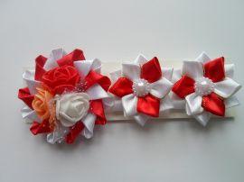 Набор заколка + резинки Веер - подарок ручной работы на свадьбу Россия.