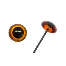 Глазки 6мм на металл.ножке, цв.коричневый, упаковка 8шт, 25528 Россия.