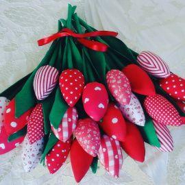 Текстильные цветы Тюльпаны в стиле Тильда в Stranamasterov.by Беларусь.