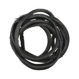Шнур из натуральной кожи 3мм*1м, дизайн №301, 100% кожа чёрный Россия.