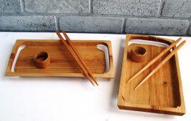 Посуда из дерева Тарелки для суши - набор в Stranamasterov.by Беларусь.