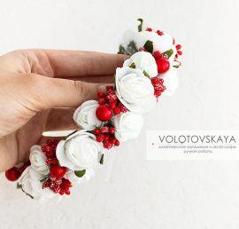 Ободок С цветами и ягодами в Stranamasterov.by Беларусь.