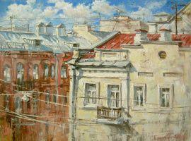 Пейзаж Осенние крыши в Stranamasterov.by Россия.