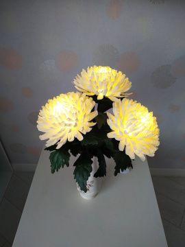 Декоративный светильник Хризантемы в вазе в Stranamasterov.by Беларусь.