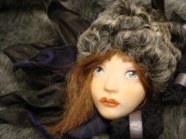 Авторская кукла Брошь Лицо куклы в Stranamasterov.by Беларусь.