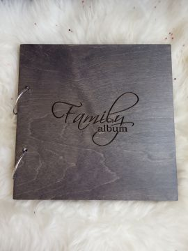 Деревянный фотоальбом Family album в Stranamasterov.by Беларусь.
