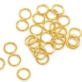 Кольцо соединительное для бус 7мм, упаковка 50шт, TBY.RG1.07.05 золото Россия.
