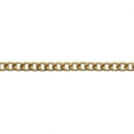 Цепь алюминиевая, 6.6*5.2мм 10 м золото, К1705 Россия.