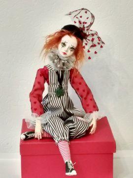 Коллекционная кукла Пьеро в Stranamasterov.by Беларусь.