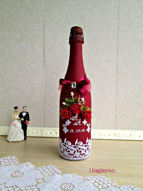 Оформление Свадебное шампанское ручной работы. Подарок на свадьбу. Вот что нужно дарить!